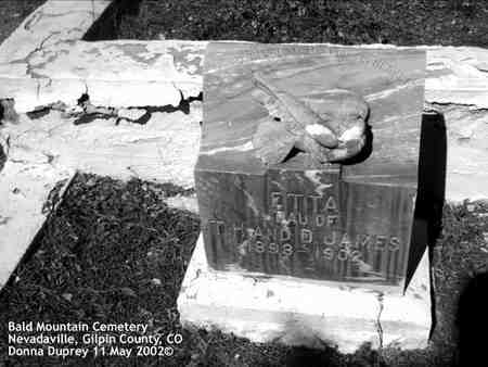 JAMES, ETTA - Gilpin County, Colorado | ETTA JAMES - Colorado Gravestone Photos