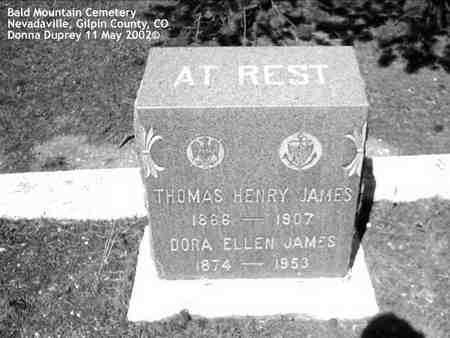 JAMES, THOMAS HENRY - Gilpin County, Colorado | THOMAS HENRY JAMES - Colorado Gravestone Photos