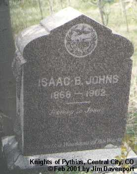 JOHNS, ISAAC B. - Gilpin County, Colorado | ISAAC B. JOHNS - Colorado Gravestone Photos