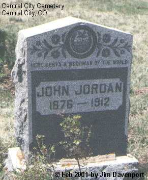 JORDAN, JOHN - Gilpin County, Colorado | JOHN JORDAN - Colorado Gravestone Photos