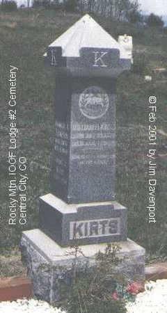 KIRTS, GRANT J. - Gilpin County, Colorado | GRANT J. KIRTS - Colorado Gravestone Photos