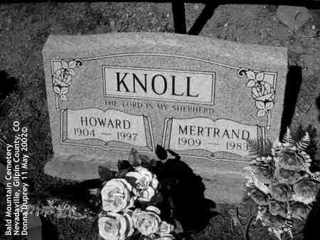 KNOLL, HOWARD - Gilpin County, Colorado | HOWARD KNOLL - Colorado Gravestone Photos