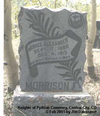 MORRISON, HORACE ALEXANDER - Gilpin County, Colorado | HORACE ALEXANDER MORRISON - Colorado Gravestone Photos