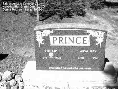 PRINCE, ARVA MAY - Gilpin County, Colorado | ARVA MAY PRINCE - Colorado Gravestone Photos