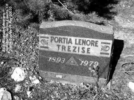 TREZISE, PORTIA LENORE - Gilpin County, Colorado | PORTIA LENORE TREZISE - Colorado Gravestone Photos