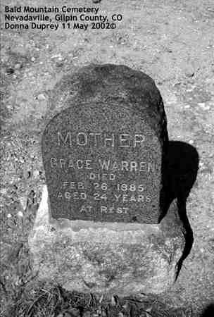 WARREN, GRACE - Gilpin County, Colorado | GRACE WARREN - Colorado Gravestone Photos