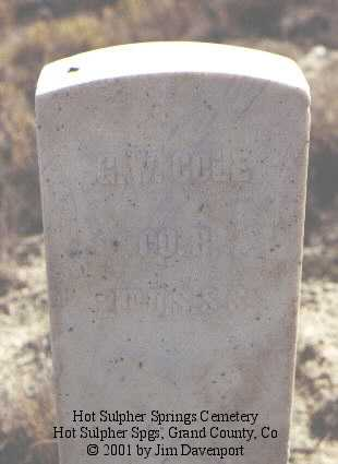 COLE, G. W. - Grand County, Colorado | G. W. COLE - Colorado Gravestone Photos