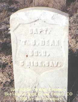 DEAN, T. J. - Grand County, Colorado | T. J. DEAN - Colorado Gravestone Photos