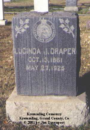 DRAPER, LUCINDA J. - Grand County, Colorado | LUCINDA J. DRAPER - Colorado Gravestone Photos