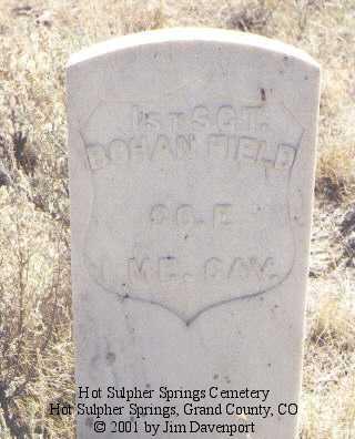 FIELD, BOHAN - Grand County, Colorado | BOHAN FIELD - Colorado Gravestone Photos