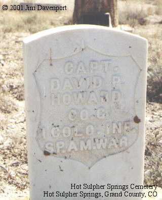 HOWARD, DAVID P. - Grand County, Colorado | DAVID P. HOWARD - Colorado Gravestone Photos