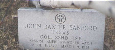 SANFORD, JOHN BAXTER - Grand County, Colorado | JOHN BAXTER SANFORD - Colorado Gravestone Photos