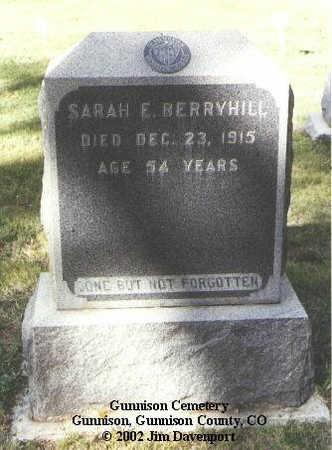 BERRYHILL, SARAH E. - Gunnison County, Colorado   SARAH E. BERRYHILL - Colorado Gravestone Photos