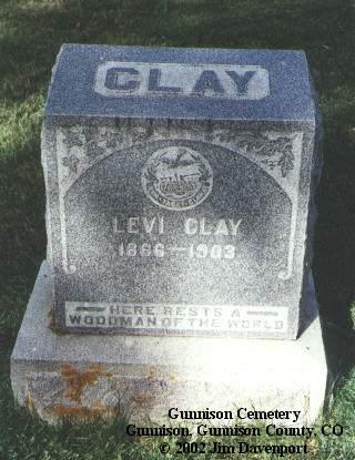 CLAY, LEVI - Gunnison County, Colorado   LEVI CLAY - Colorado Gravestone Photos