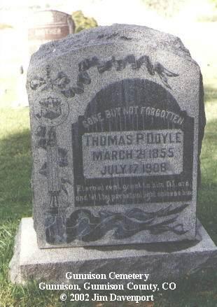 DOYLE, THOMAS P. - Gunnison County, Colorado | THOMAS P. DOYLE - Colorado Gravestone Photos