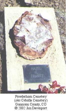 FRANTZ, HAZEL E. - Gunnison County, Colorado   HAZEL E. FRANTZ - Colorado Gravestone Photos