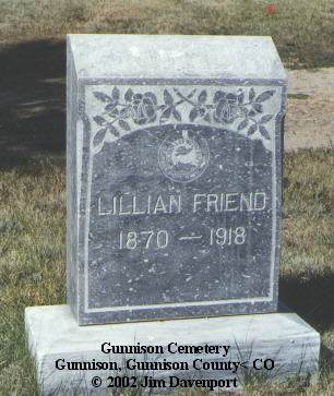 FRIEND, LILLIAN - Gunnison County, Colorado   LILLIAN FRIEND - Colorado Gravestone Photos