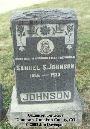 JOHNSON, SAMUEL S. - Gunnison County, Colorado   SAMUEL S. JOHNSON - Colorado Gravestone Photos