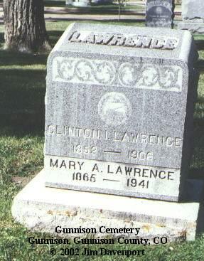 LAWRENCE, CLINTON I. - Gunnison County, Colorado | CLINTON I. LAWRENCE - Colorado Gravestone Photos
