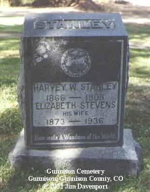 STANLEY, ELIZABETH STEVENS - Gunnison County, Colorado | ELIZABETH STEVENS STANLEY - Colorado Gravestone Photos