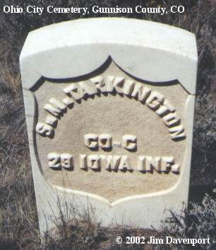 TARKINGTON, S. M. - Gunnison County, Colorado | S. M. TARKINGTON - Colorado Gravestone Photos