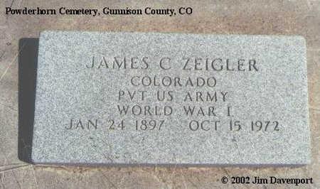 ZEIGLER, JAMES C. - Gunnison County, Colorado | JAMES C. ZEIGLER - Colorado Gravestone Photos
