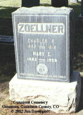 ZOELLNER, MARY C. - Gunnison County, Colorado | MARY C. ZOELLNER - Colorado Gravestone Photos