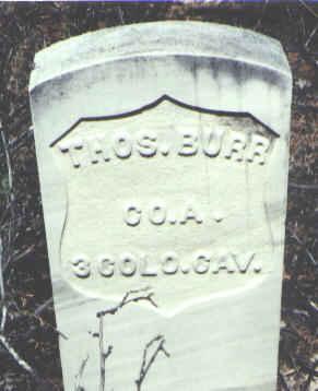 BURR, THOS. - Hinsdale County, Colorado | THOS. BURR - Colorado Gravestone Photos