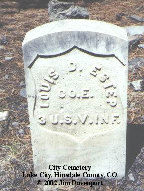 ESTEP, LOUIS D. - Hinsdale County, Colorado | LOUIS D. ESTEP - Colorado Gravestone Photos