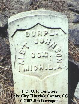 JOHNSON, ALB'T - Hinsdale County, Colorado | ALB'T JOHNSON - Colorado Gravestone Photos