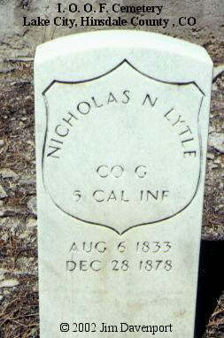 LYTLE, NICHOLAS N. - Hinsdale County, Colorado | NICHOLAS N. LYTLE - Colorado Gravestone Photos
