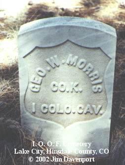 MORRIS, GEO. W. - Hinsdale County, Colorado | GEO. W. MORRIS - Colorado Gravestone Photos