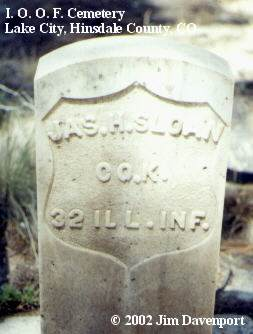 SLOAN, JAS. H. - Hinsdale County, Colorado | JAS. H. SLOAN - Colorado Gravestone Photos