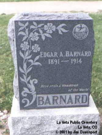 BARNARD, EDGAR A. - Huerfano County, Colorado | EDGAR A. BARNARD - Colorado Gravestone Photos