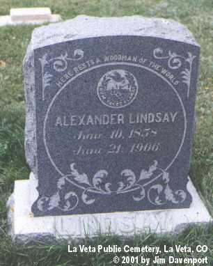 LINDSAY, ALEXANDER - Huerfano County, Colorado | ALEXANDER LINDSAY - Colorado Gravestone Photos