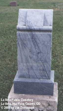 MCWHIRTER, WM. - Huerfano County, Colorado   WM. MCWHIRTER - Colorado Gravestone Photos