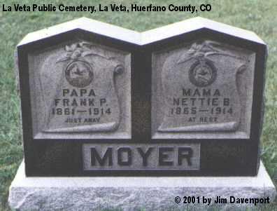 MOYER, FRANK P. - Huerfano County, Colorado | FRANK P. MOYER - Colorado Gravestone Photos