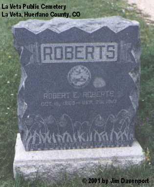 ROBERTS, ROBERT E. - Huerfano County, Colorado | ROBERT E. ROBERTS - Colorado Gravestone Photos