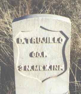 TRUJILLO, D. - Huerfano County, Colorado   D. TRUJILLO - Colorado Gravestone Photos