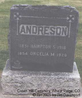 ANDRESON, HAMPTON S. - Jefferson County, Colorado | HAMPTON S. ANDRESON - Colorado Gravestone Photos