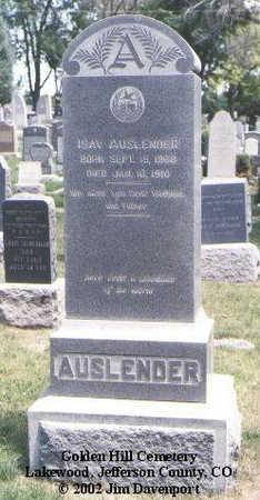 AUSLENDER, ISAY - Jefferson County, Colorado | ISAY AUSLENDER - Colorado Gravestone Photos