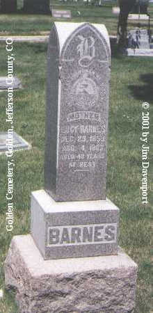 BARNES, LUCY - Jefferson County, Colorado | LUCY BARNES - Colorado Gravestone Photos