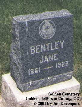 BENTLEY, JANE - Jefferson County, Colorado | JANE BENTLEY - Colorado Gravestone Photos