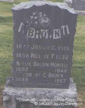 BROWN, HERBERT C. - Jefferson County, Colorado | HERBERT C. BROWN - Colorado Gravestone Photos