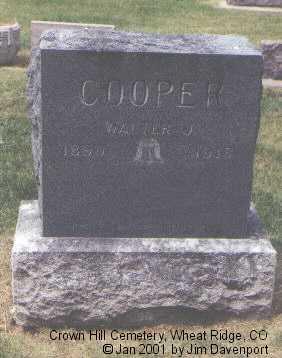 COOPER, WALTER J. - Jefferson County, Colorado | WALTER J. COOPER - Colorado Gravestone Photos