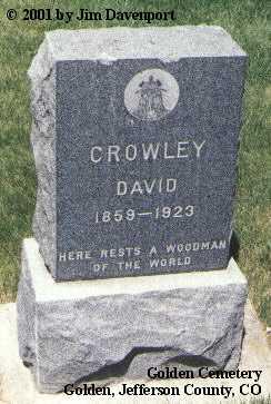 CROWLEY, DAVID - Jefferson County, Colorado | DAVID CROWLEY - Colorado Gravestone Photos