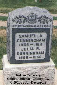 CUNNINGHAM, JULIA R. - Jefferson County, Colorado   JULIA R. CUNNINGHAM - Colorado Gravestone Photos
