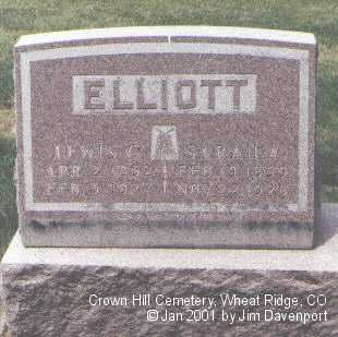 ELLIOTT, LEWIS C. - Jefferson County, Colorado | LEWIS C. ELLIOTT - Colorado Gravestone Photos