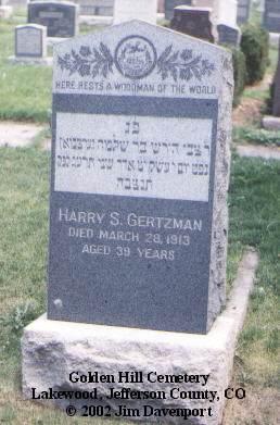 GERTZMAN, HARRY S. - Jefferson County, Colorado | HARRY S. GERTZMAN - Colorado Gravestone Photos