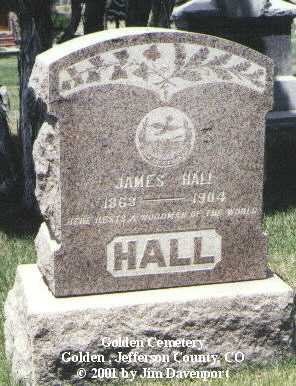 HALL, JAMES - Jefferson County, Colorado | JAMES HALL - Colorado Gravestone Photos